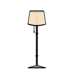 Post lamp room decoration vector
