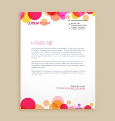 stylish colorful business letterhead design vector image vector image