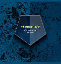 camouflage dark blue background vector image