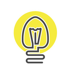 Economic light bulb isolated icon vector