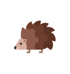 flat style of hedgehog vector image vector image