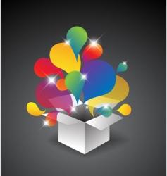 gift box of balloons vector image vector image