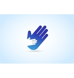 Hands care silhouette logo concept vector image vector image