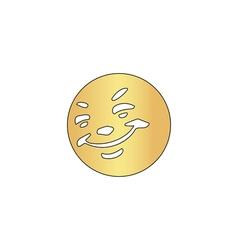 Happy face computer symbol vector image vector image