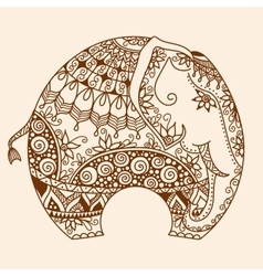 Henna mehndi decorated Indian Elephant vector image vector image