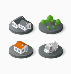real estate isometric vector image vector image