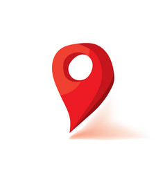 red map marker icon flat vector image