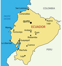Republic of Ecuador - map vector image vector image
