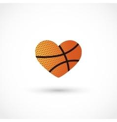 basketball heart vector image
