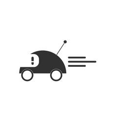 Black icon on white background remote control car vector