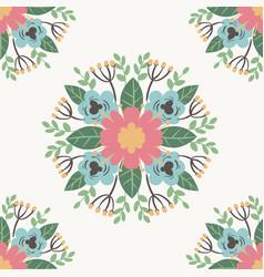 floral flower pattern ornament vector image
