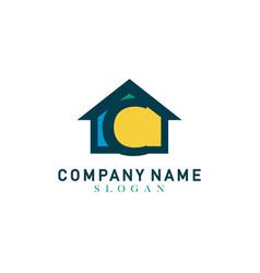 Home letter c design vector