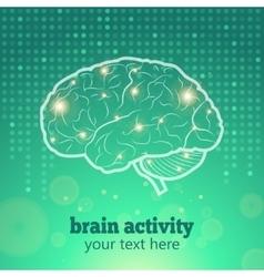 Human brain activity vector image vector image