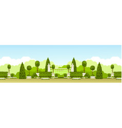 public park panoramic vector image vector image