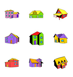 real estate icons set cartoon style vector image vector image