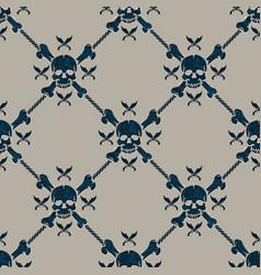 Seamless pattern pirate skulls vector