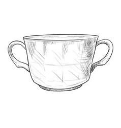 sketch of pot vector image vector image