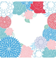 background rose heart card vector image