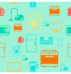 kitchen appliances seamless pattern background vector image