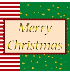 Merry christmas Happy new year triangle pine tree vector image vector image