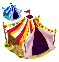 Open a festive circus tent isolated vector