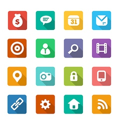 set of trendy flat icons vector image vector image