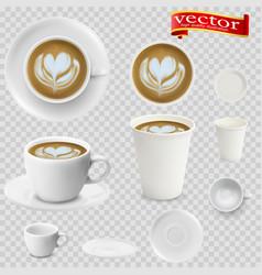 3d realistic cappuccino coffee vector image