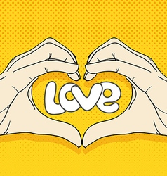 Abstract valentines hearts human hands love vector