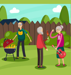 Aged elderly people orthogonal composition vector