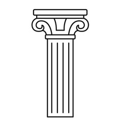 ancient pillar icon outline style vector image