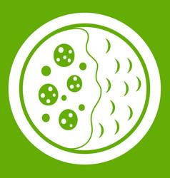 Asian soup icon green vector