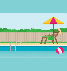 Background of swimming pool flat vector
