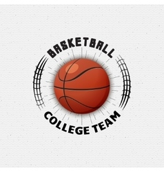 Basketball badges logos and labels for any use vector image