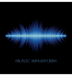 Blue sound waveform with sharp edges vector image