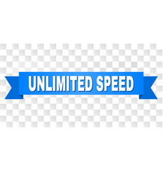 Blue stripe with unlimited speed caption vector