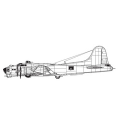 boeing b-17g flying fortress vector image