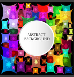 bright abstract background with quadrangles stars vector image