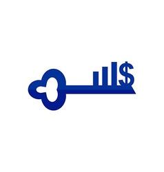 Business finance logo lock vector