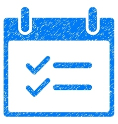 Check Items Calendar Day Grainy Texture Icon vector image