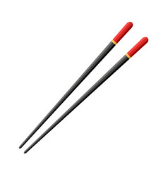 chopstick for chinese sushi japan hashi wooden vector image