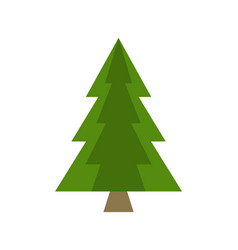 Christmas tree sign board spruce icon vector