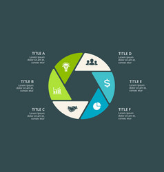 Circle arrows infographic cycle diagram vector