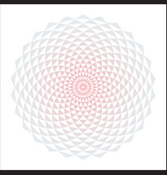 Circular fractal design element vector