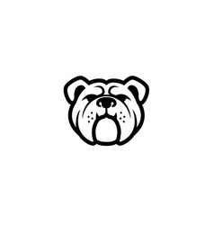 creative abstract bulldog pet head symbol logo vector image