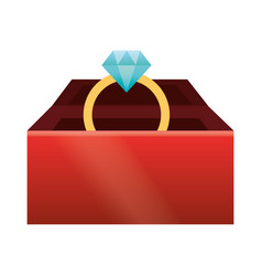 cute gift box cartoon vector image