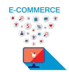 e-commerce concept online store shopping sale vector image