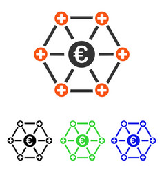 euro medical network flat icon vector image