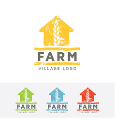 farm village logo design vector image