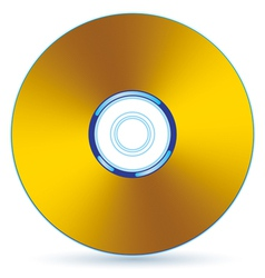 Gold CD vector