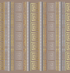 greek seamless border pattern with vertical grunge vector image